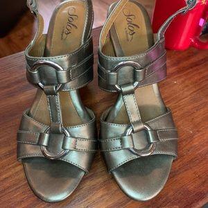 SOLOS SOFTSPOTS High Heel Sandals Size 9.5